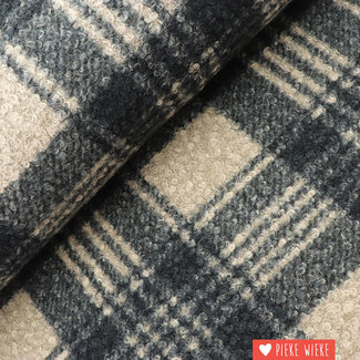 Bouclé checkered Grey