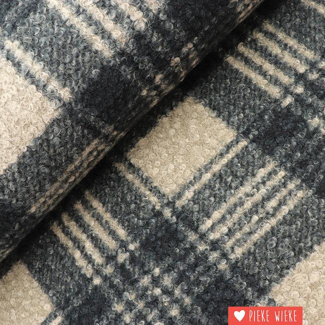 Bouclé checkered Grey