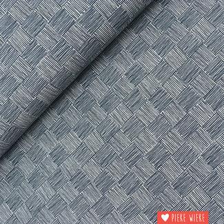 Cotton + Steel Katoen Hooibaal Blauw