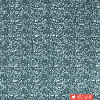 Cotton + Steel Katoen Ocean Staalblauw