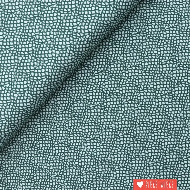 Cotton + Steel Katoen Moss Staalblauw