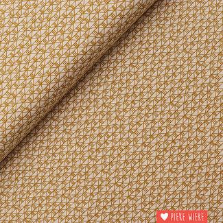 Cotton + Steel Cotton Bricks Ochre