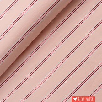 Tricot Stripe Roze-rood