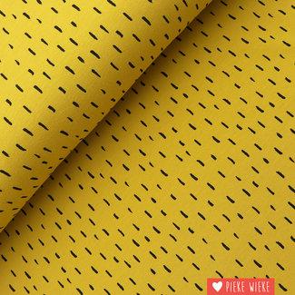 Poppy Jersey GOTS Stripe dots Ochre