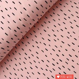 Poppy Jersey GOTS Stripe dots Pink