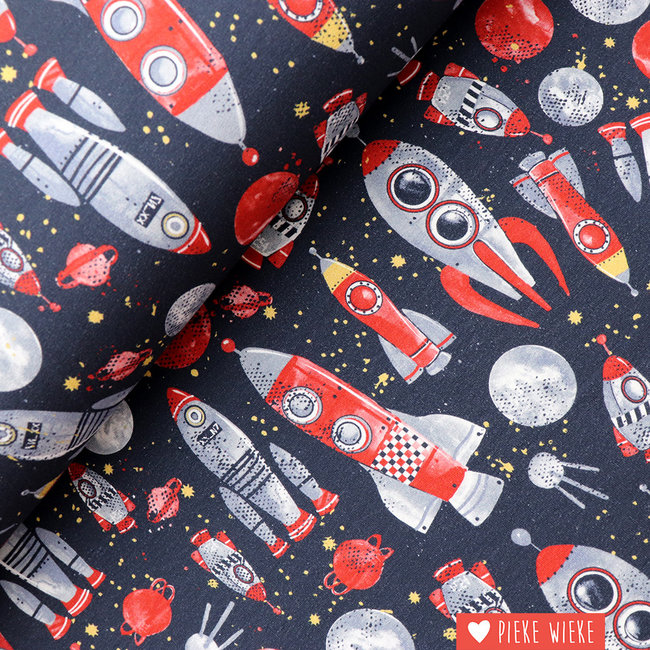Poppy French terry Rocket Science Navy