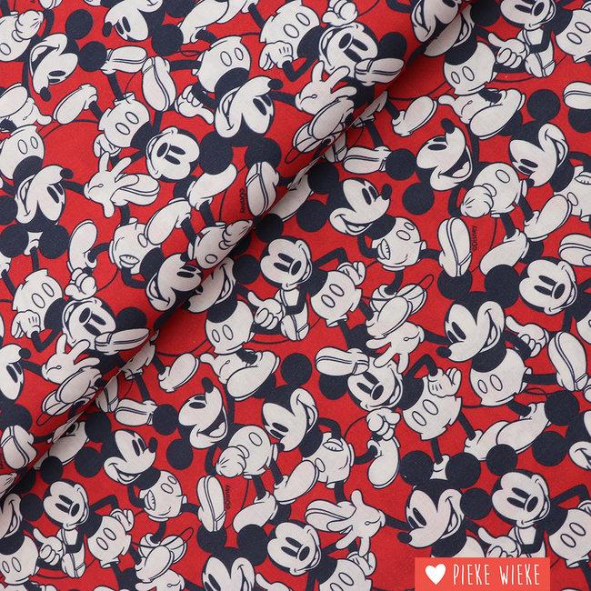 Disney Katoen Mickey  Rood