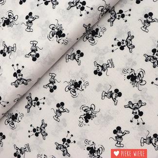 Disney katoen Mickey Zwartwit