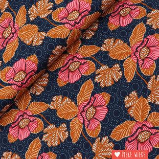 Poppy Katoen Oriental Blauw