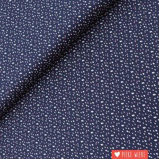 Poppy Cotton Little Glitter Dots Dark Blue