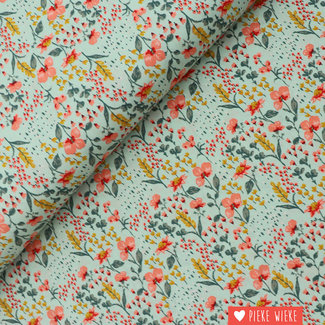 Cotton GOTS Beautiful Garden Mint