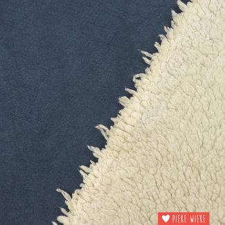 Suedine teddy Jeansblauw