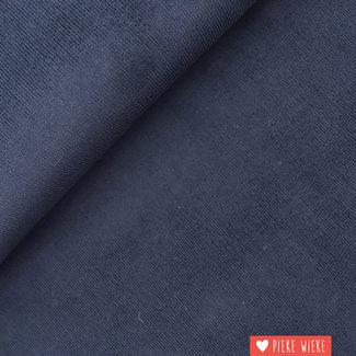 Ribfluweel fijn Donker blauw