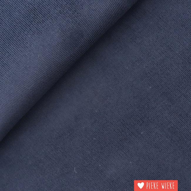 Rib velvet fine Dark blue