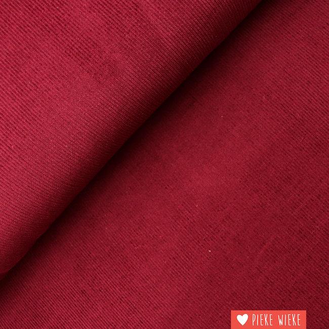 Rib velvet fine Wine red