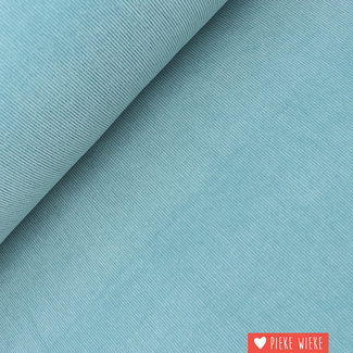 Ribfluweel fijn stretch washed Baby blauw
