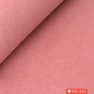 Ribfluweel fijn stretch washed Roze