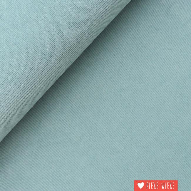 Ribfluweel fijn stretch washed Storm blauw