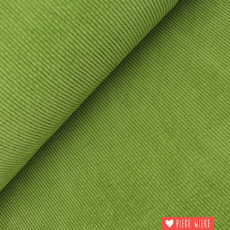 Wide corduroy washed Green