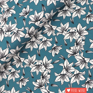 Canvas Lily Petrol