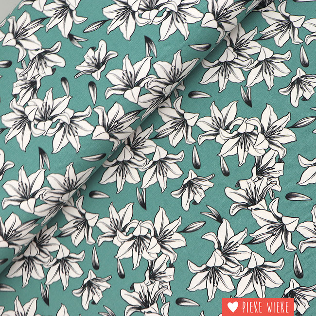 Canvas Lily  Old Green