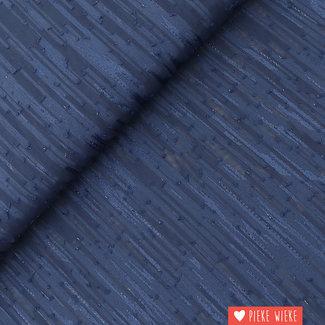 Lurex Chiffon Dark Blue
