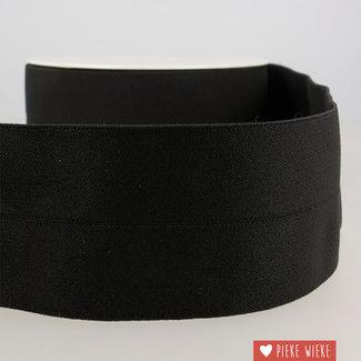 Mediac Elastiek voorgevouwen 3cm Zwart