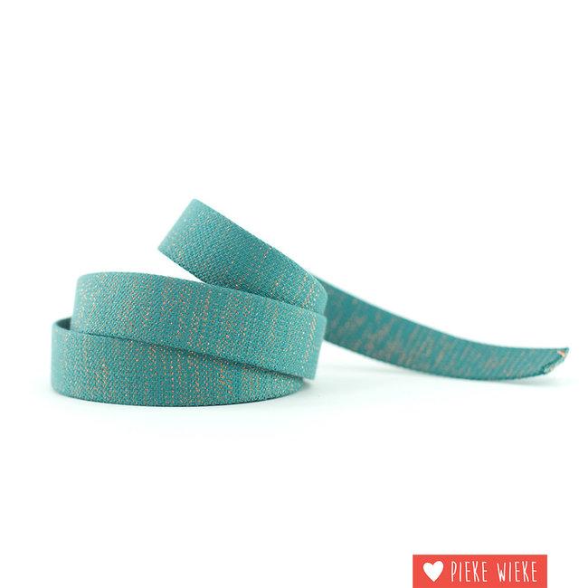 See You at Six Webbing 40mm Slate blauwgroen - lurex