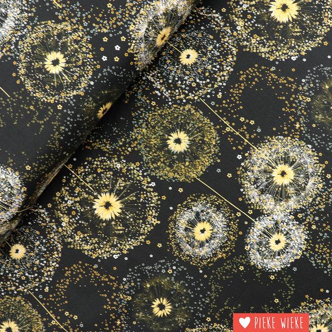 Katoen Dandelion Black