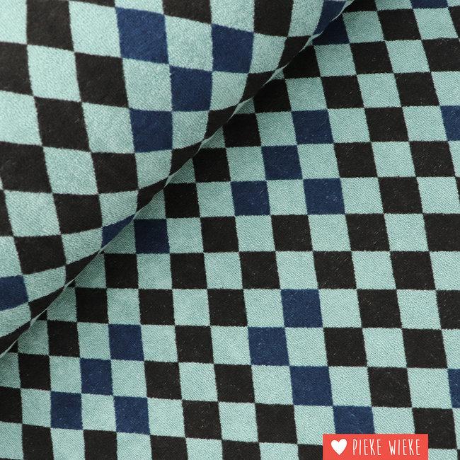 About Blue Fabrics Spons Harlequin groen