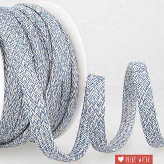 Cord melange Navy white