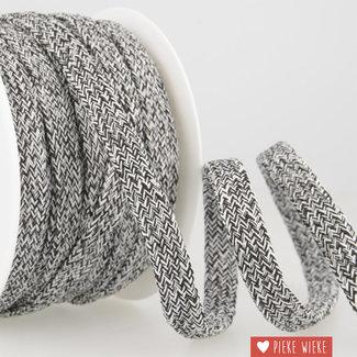 Cord melange Black and white