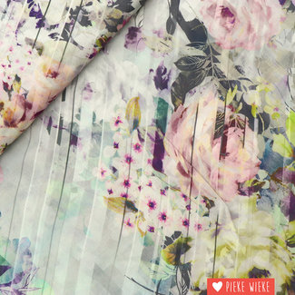 Viscose Flowers digital print