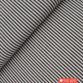 Cotton chambray Black striped