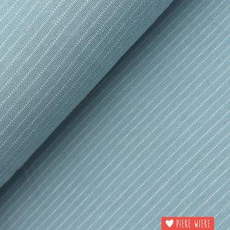 Poppy Tricot Fine striped Light blue