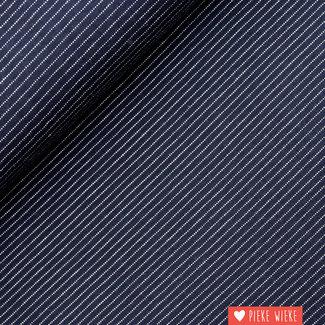 Poppy Tricot Fine Striped Dark Blue
