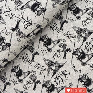 Poppy Tricot Kung Fu Panda Light Grey