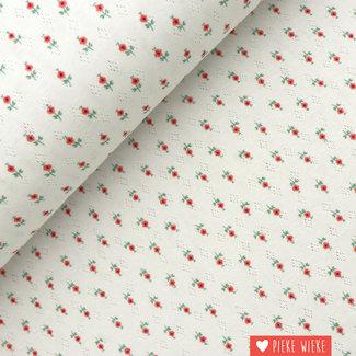 Ajour tricot Flowers  Wit