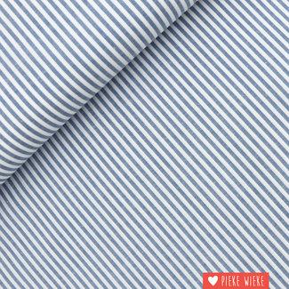 Cotton chambray  Blue striped