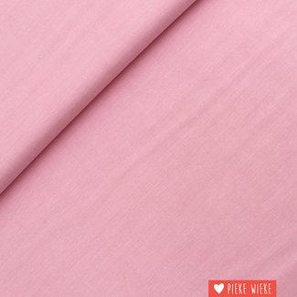 Katoen chambray Roze