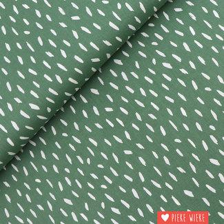 Katoen  Stripes Old green