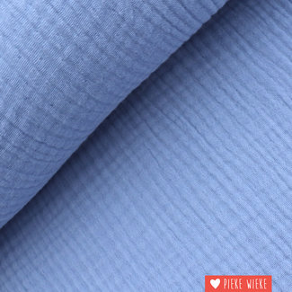 Triple gauze GOTS Lavendel blauw