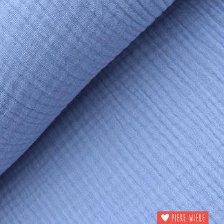 Triple gauze GOTS Lavender blue