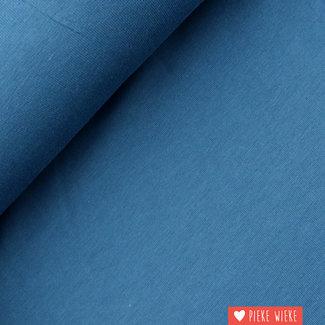 Uni tricot GOTS Jeansblauw