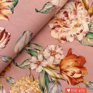 Viscose Bouquet Old pink
