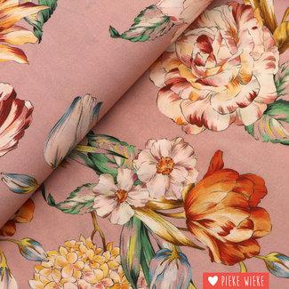 Viscose Bouquet Oud roze
