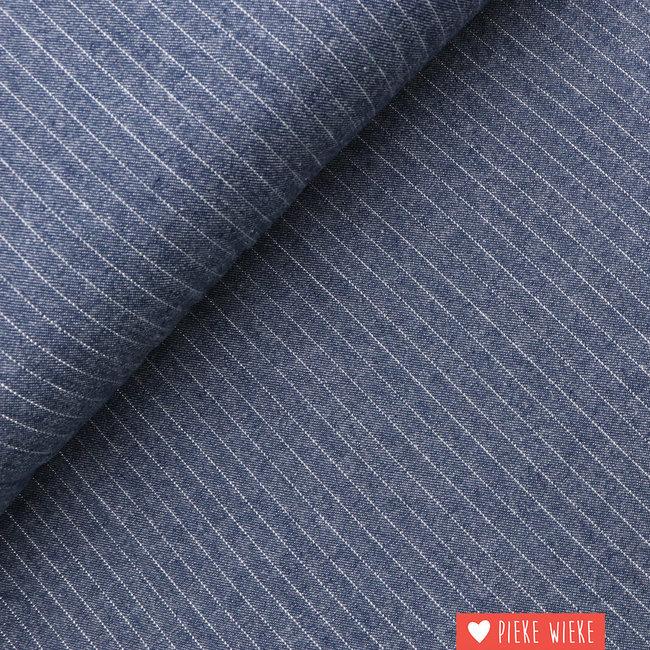 Denim Lurex Stripe Zilver