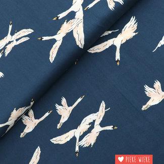 Viscose Swan Blue