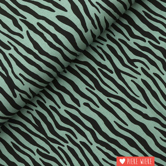 Viscose radiance Zebra Old green