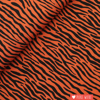 Viscose  radiance Zebra Brique
